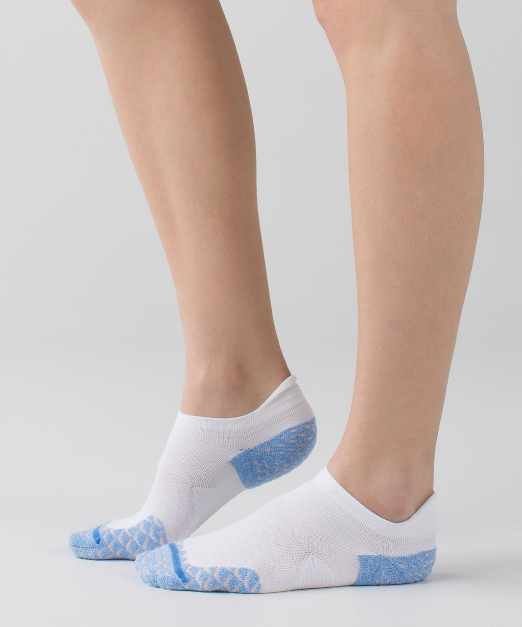 Lululemon Speed Sock - Porcelaine / Minty Pink