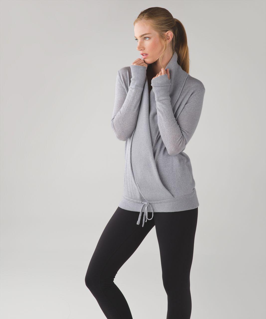 Lululemon Done Your Asana Pullover - Heathered Light Grey