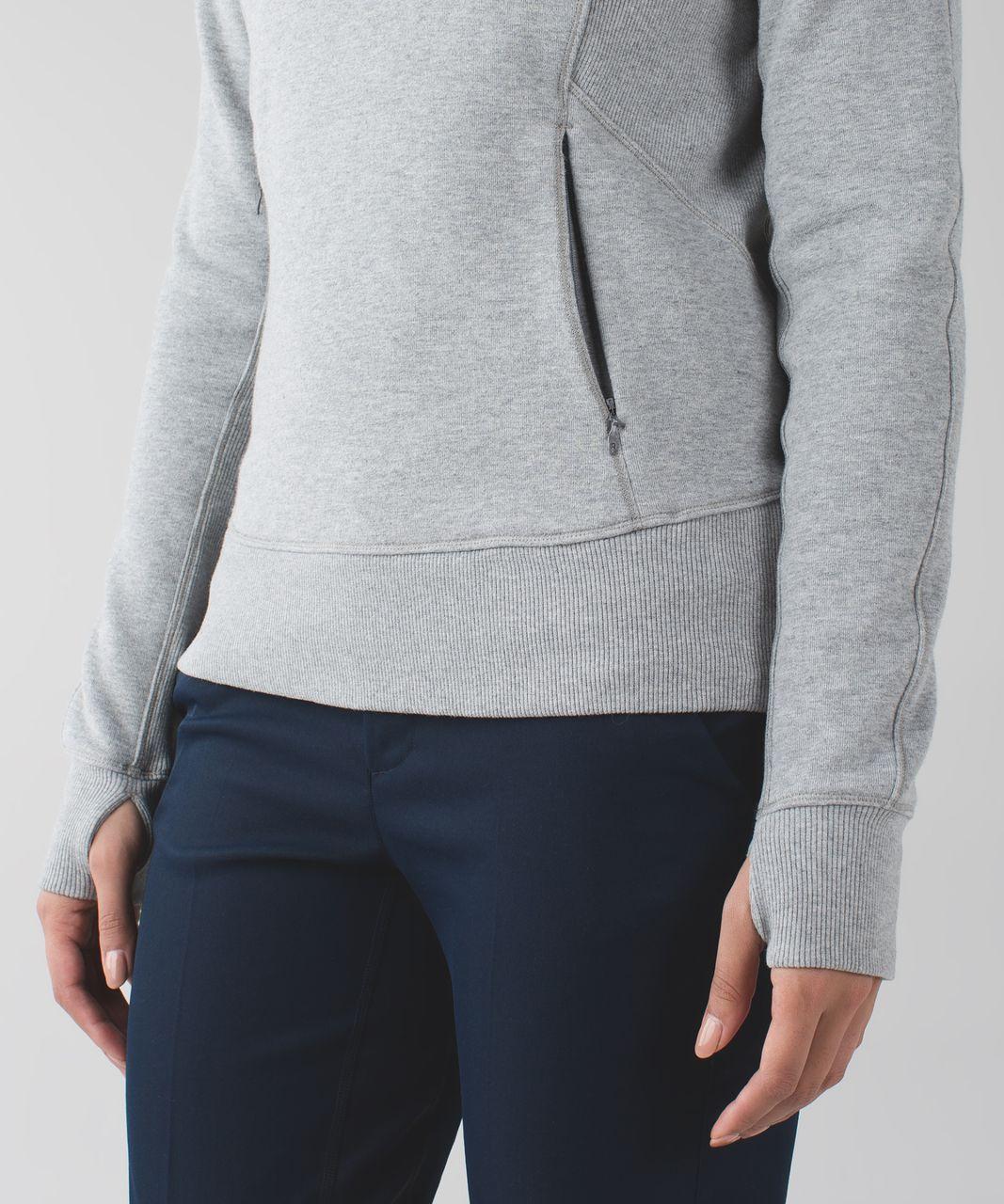 Lululemon Under Wraps Pullover - Heathered Medium Grey