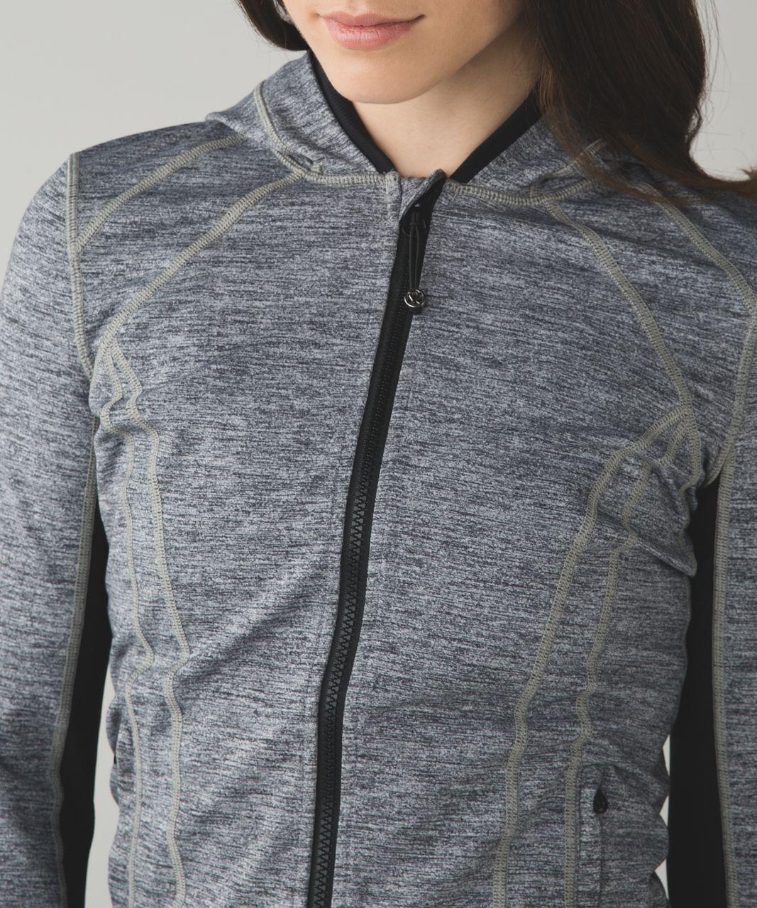 Lululemon Daily Practice Jacket - Space Dye Camo Black Dark Slate / Black