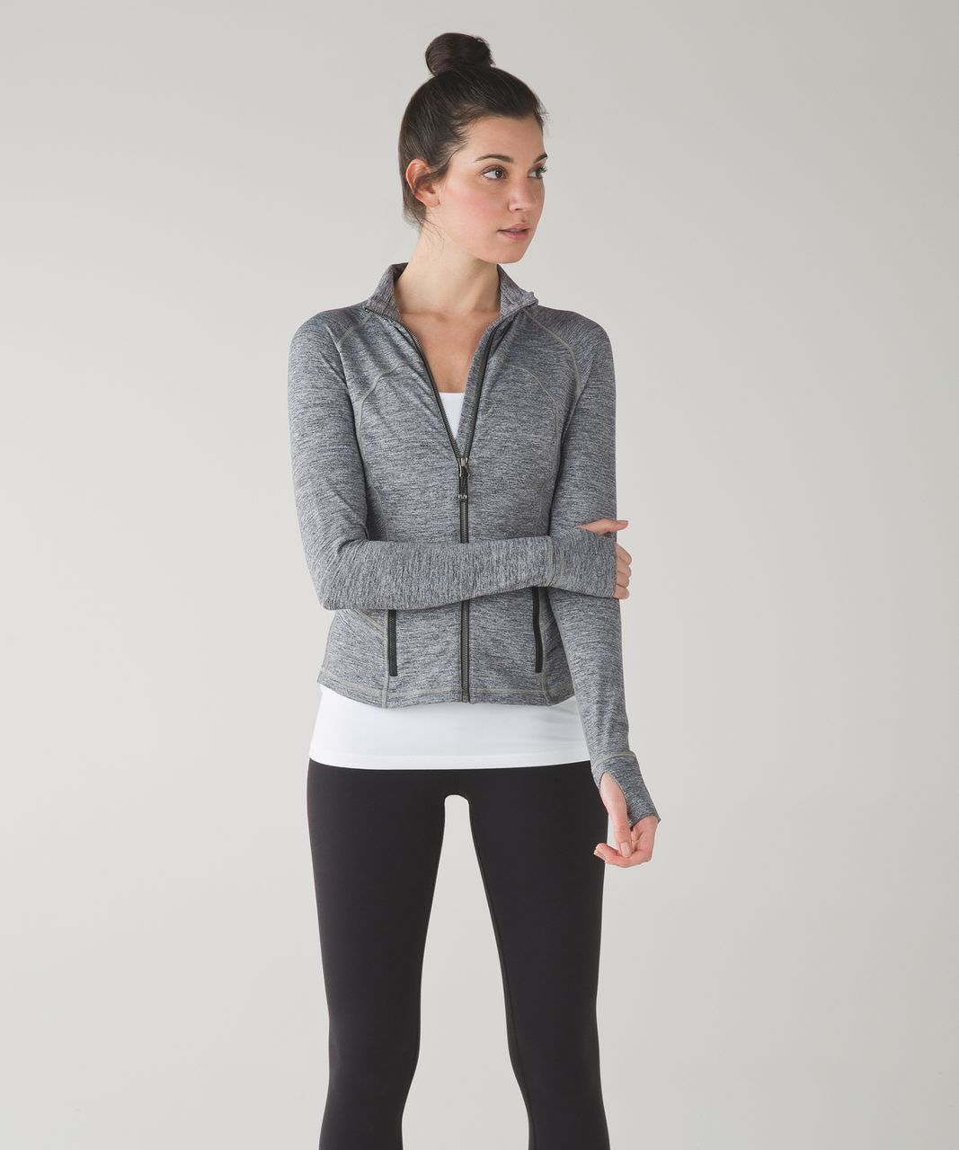 Lululemon Hustle In Your Bustle Jacket - Space Dye Camo Black Dark Slate
