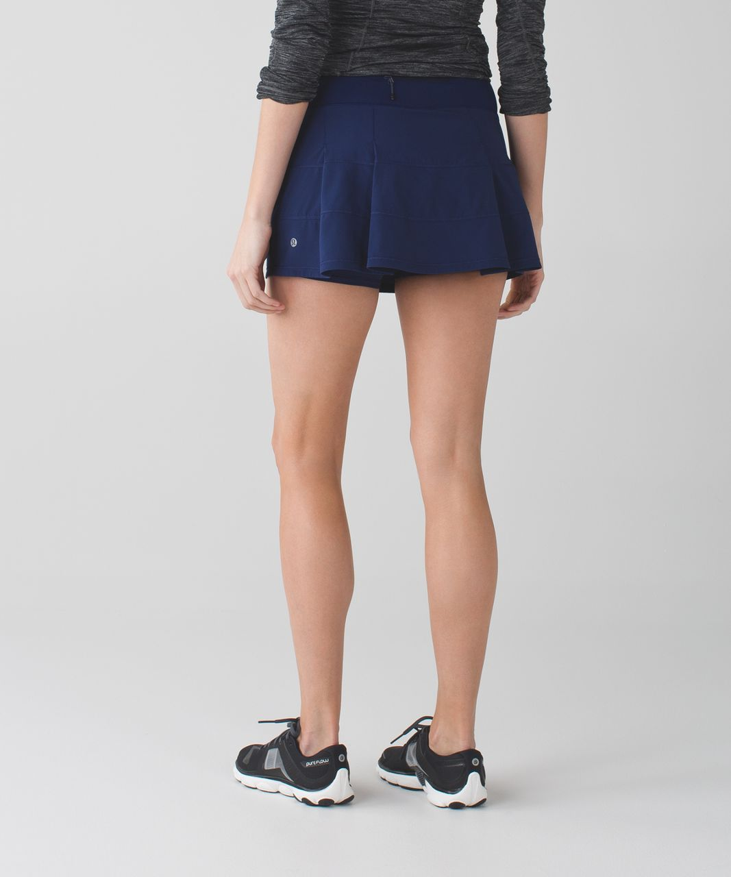 Lululemon Pace Rival Skirt II (Regular) *4-way Stretch - Hero Blue / Dandy Digie Porcelaine Black