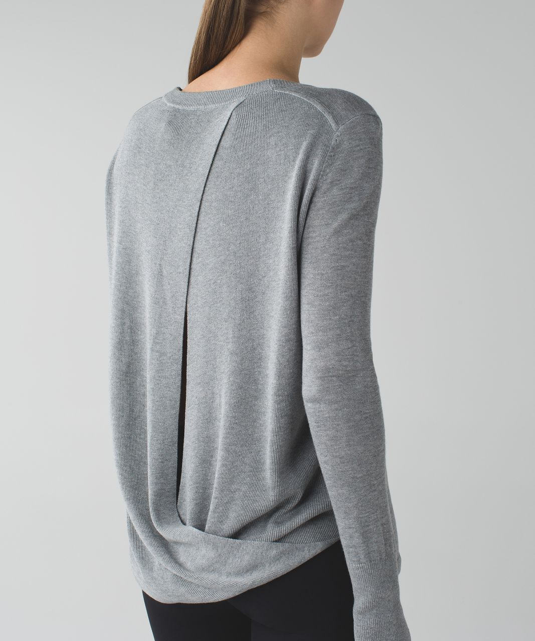 Lululemon Bring It Backbend Sweater - Heathered Medium Grey