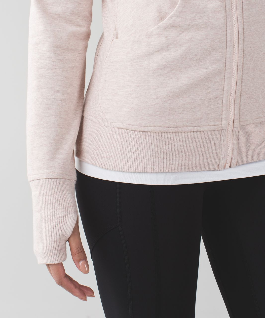Lululemon Scuba Hoodie III *Terry - Heathered Butter Pink
