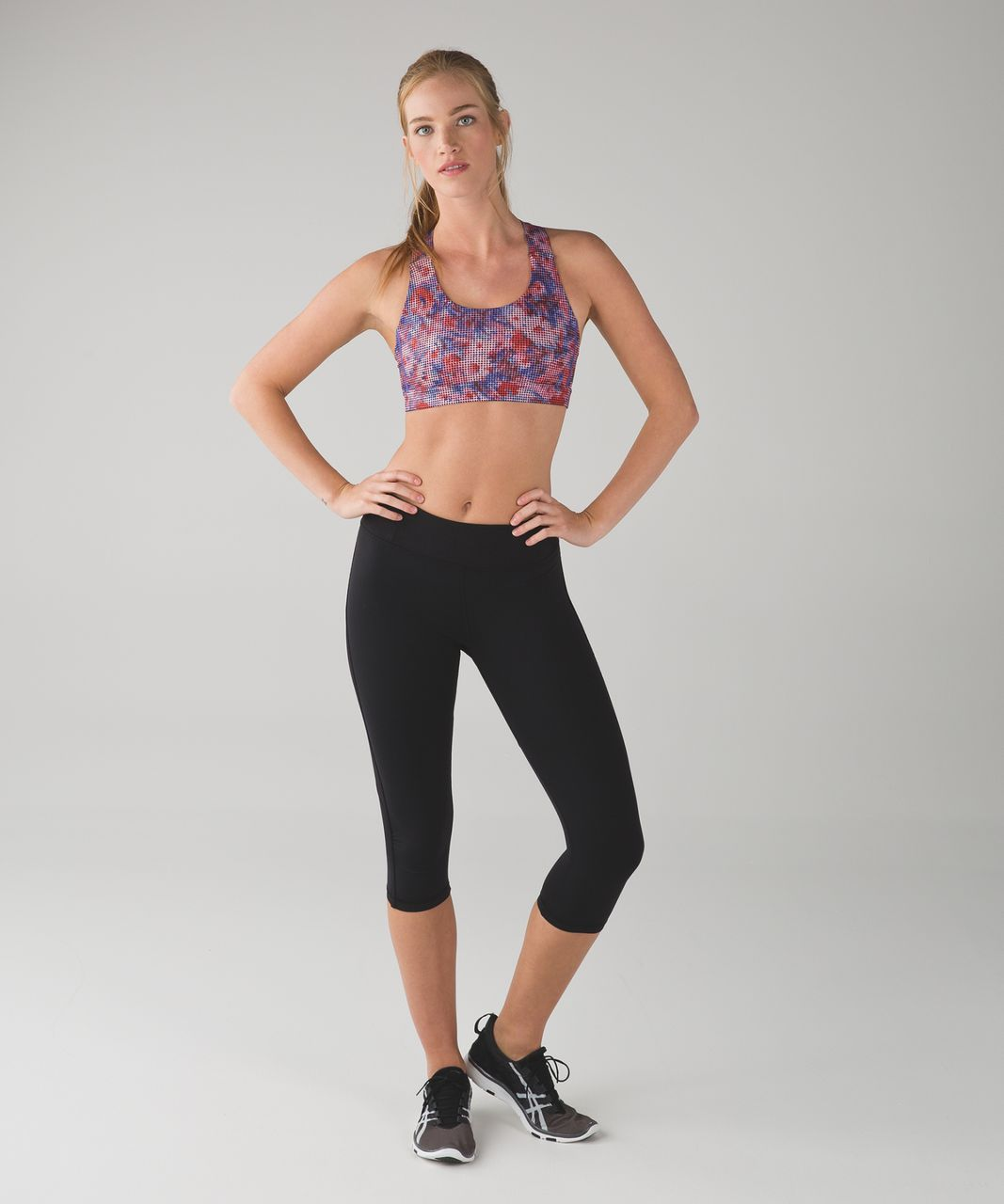 Lululemon All Sport Bra III - Checker Blooms Multi