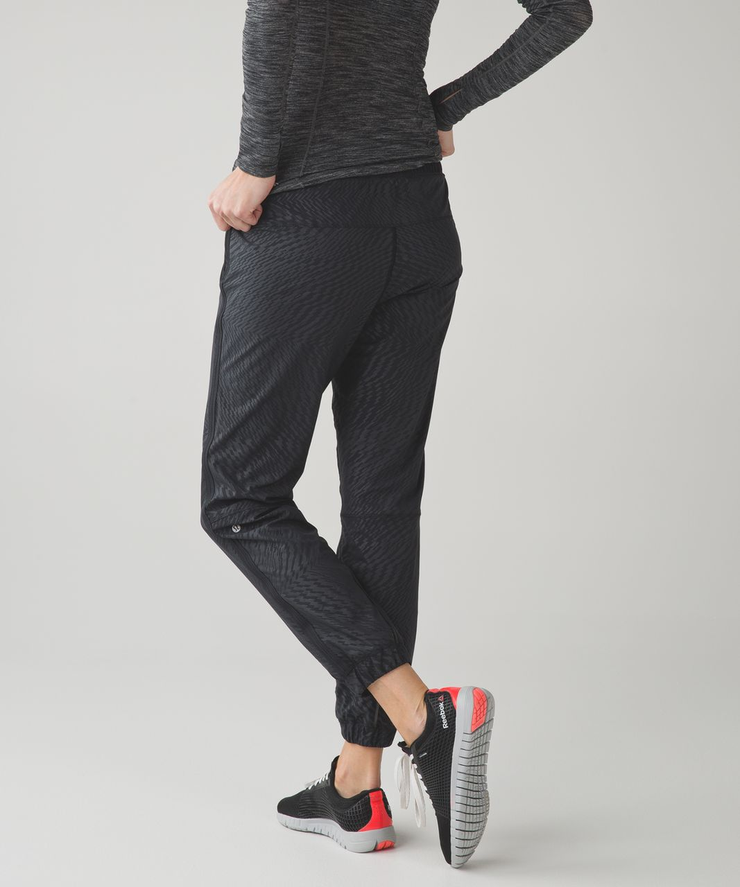 Lululemon Track To Reality Pant III - Shifted Horizon Embossed Black / Black