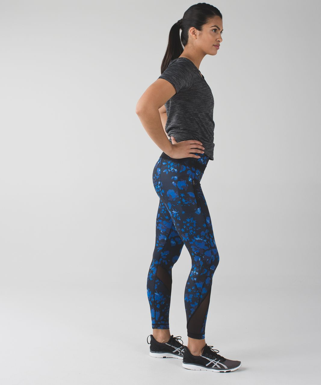 Lululemon Inspire Tight II *Full-On Luxtreme (Mesh) - Dandy Digie Porcelaine Black / Black