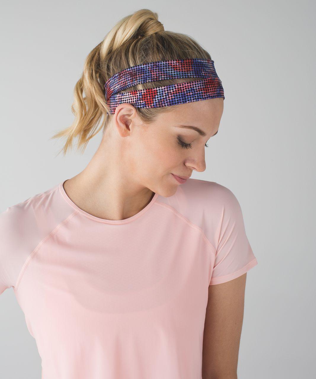 Lululemon Sweat It Out Headband - Checker Blooms Multi