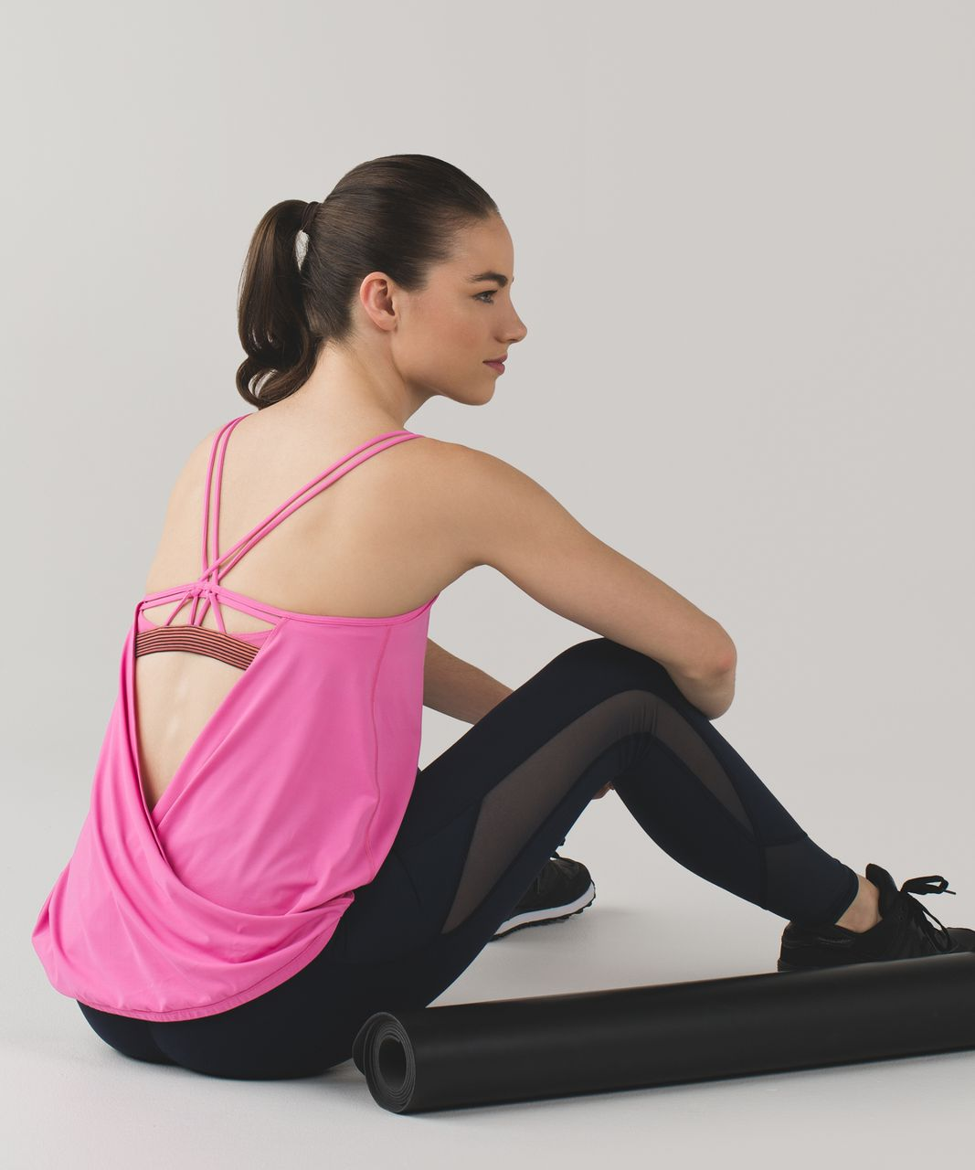 Lululemon Make A Move Tank - Pink Paradise / Simply Radiant Pink Paradise Black