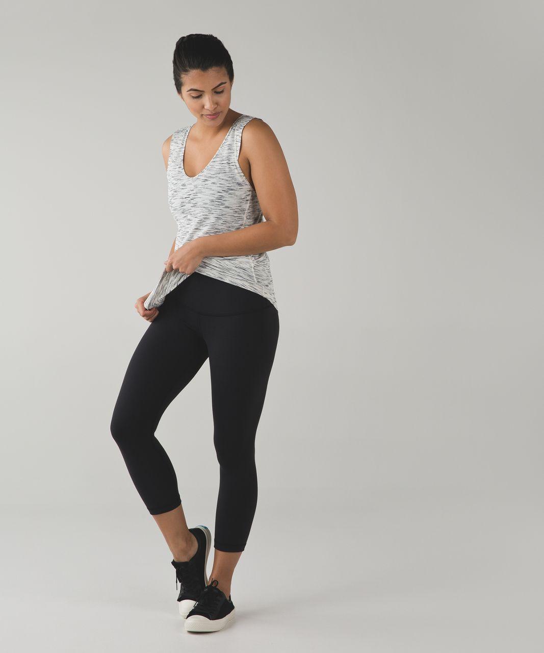 Lululemon Sweat It Out Tank - Tiger Space Dye Black White