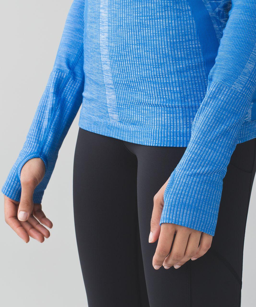 Lululemon Restless Pullover - Heathered Lakeside Blue