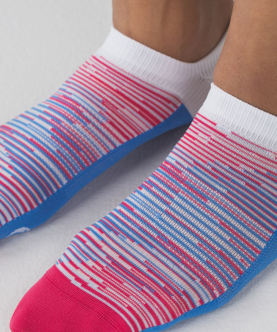 Lululemon Play All Day Sock - Porcelaine / Boom Juice / Minty Pink