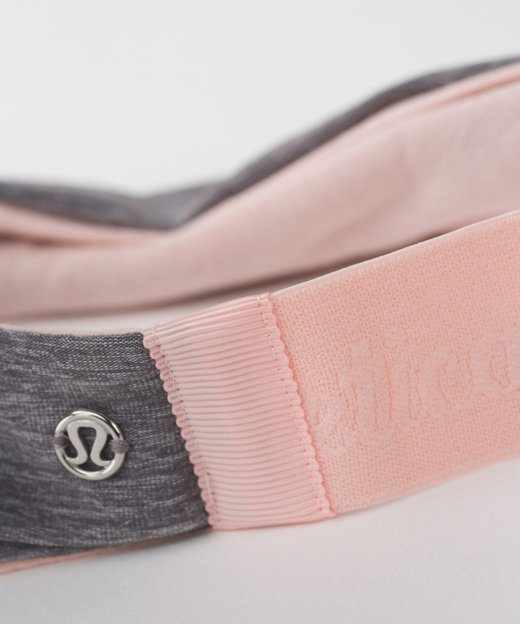Lululemon Fringe Fighter Headband - Heathered Slate / Minty Pink