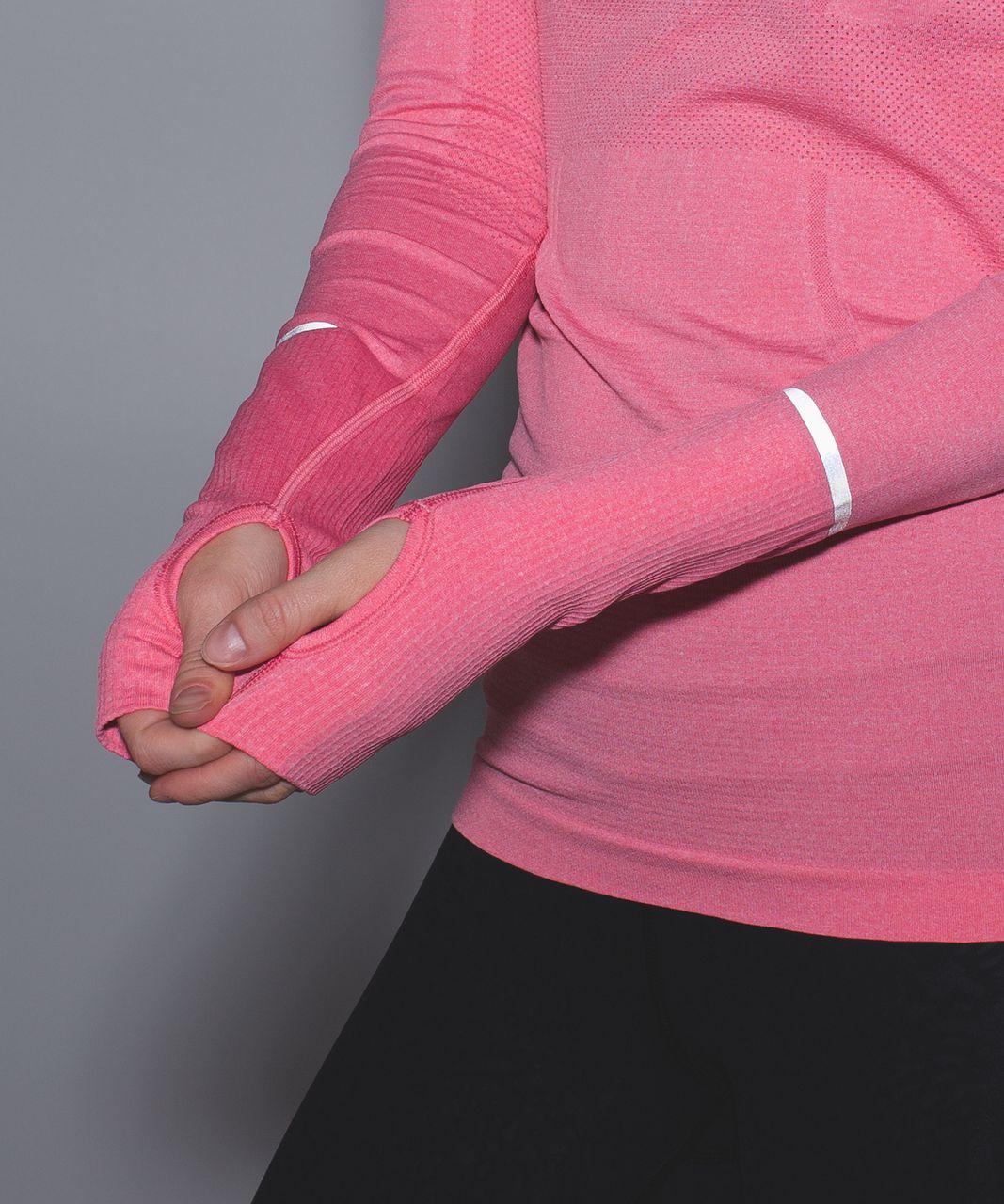 Lululemon Swiftly Tech 1/2 Zip - Heathered Pink Lemonade