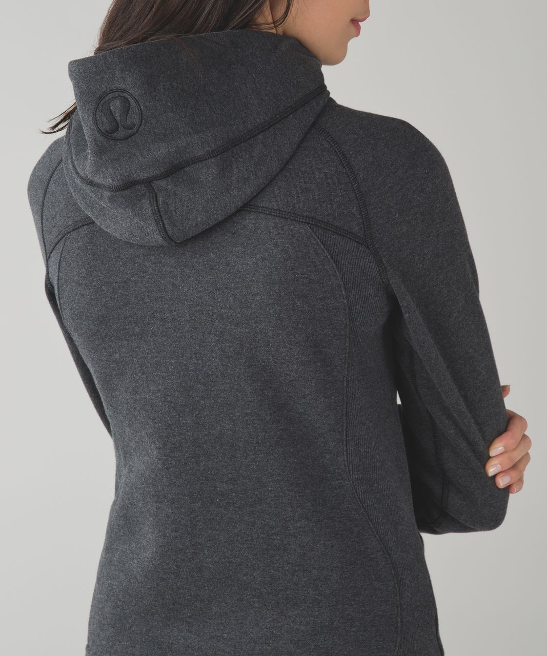Lululemon Scuba Hoodie *Classic Cotton Fleece - Heathered Black