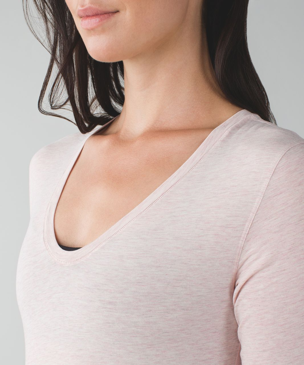 Lululemon Circadian Long Sleeve V Neck Tee - Heathered Mink Berry