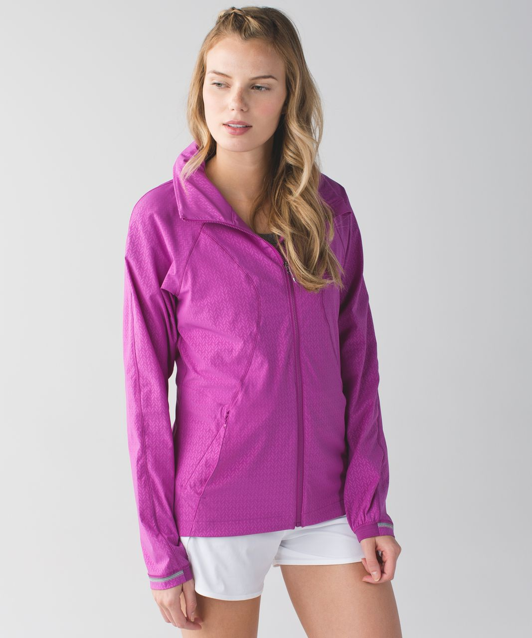 Lululemon Go The Distance Jacket - Biggie Washi Weave Embossed Ultra Violet