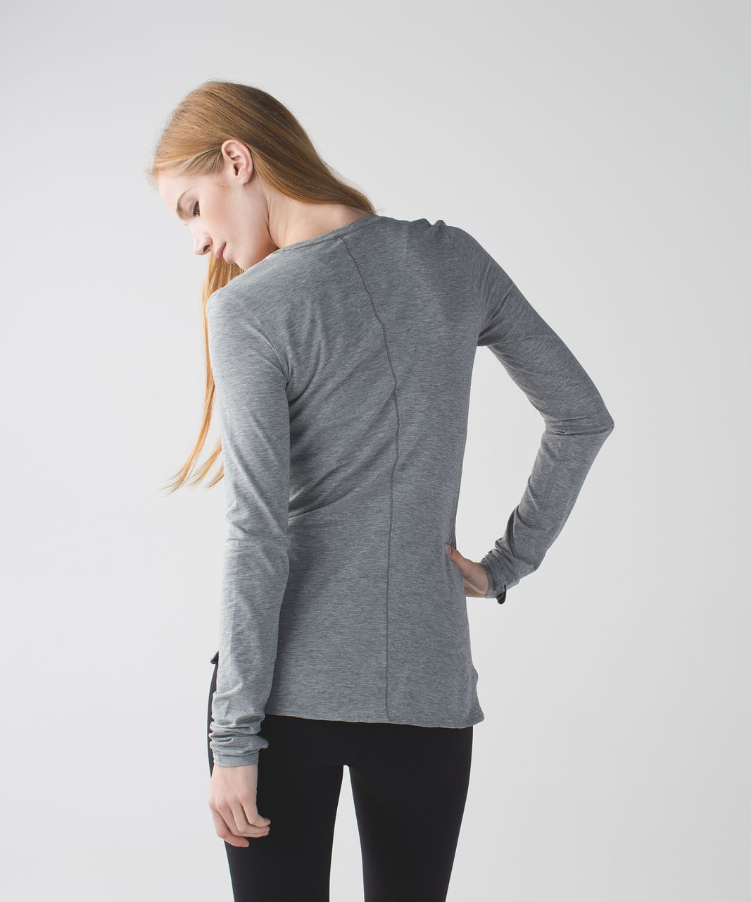 Lululemon Circadian Long Sleeve V Neck Tee - Heathered Medium Grey