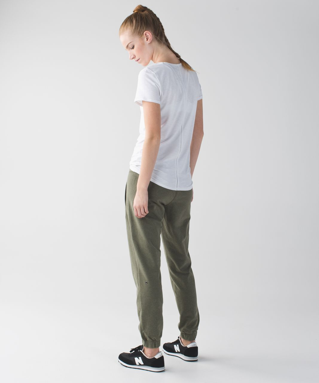 Lululemon Sattva Pant II - Heathered Fatigue Green