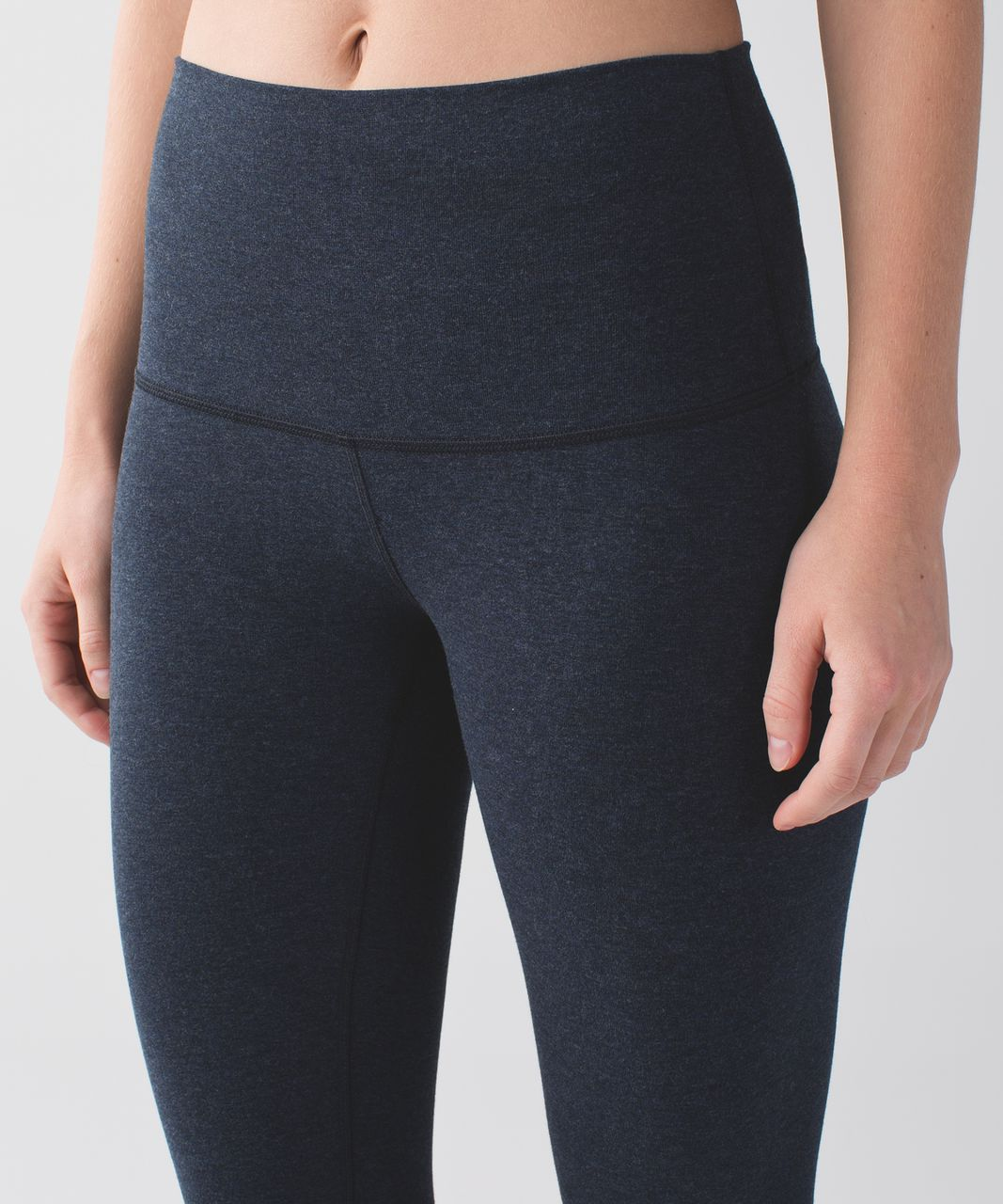 Lululemon Wunder Under Pant (Hi-Rise) *Cotton - Heathered Naval Blue