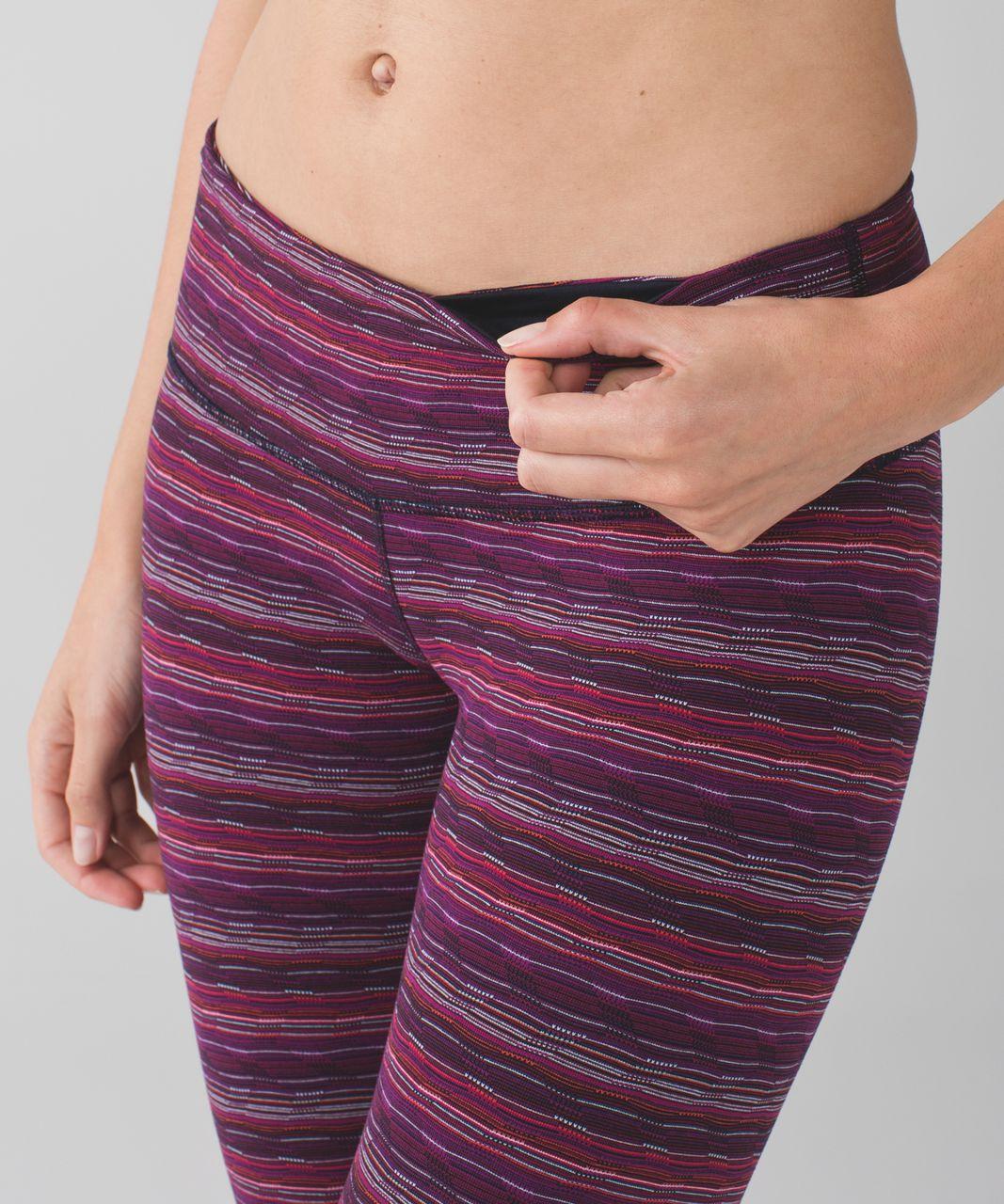 Lululemon Wunder Under Pant III - Space Dye Twist Regal Plum Alarming
