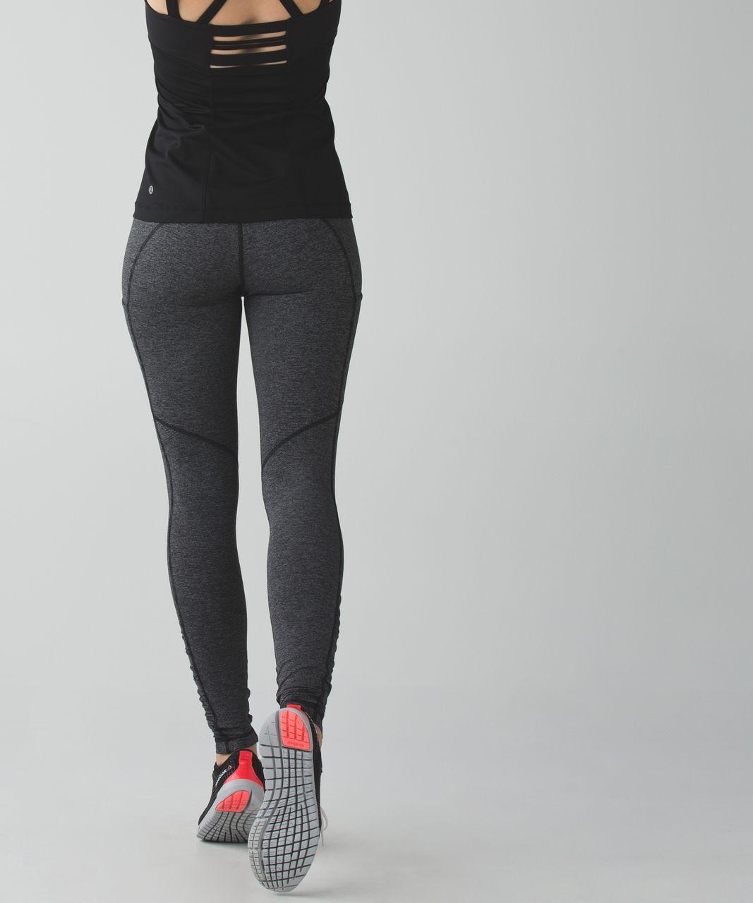 Lululemon Speed Tight IV - Wee Stripe Black Heathered Black / Black / Heathered Black