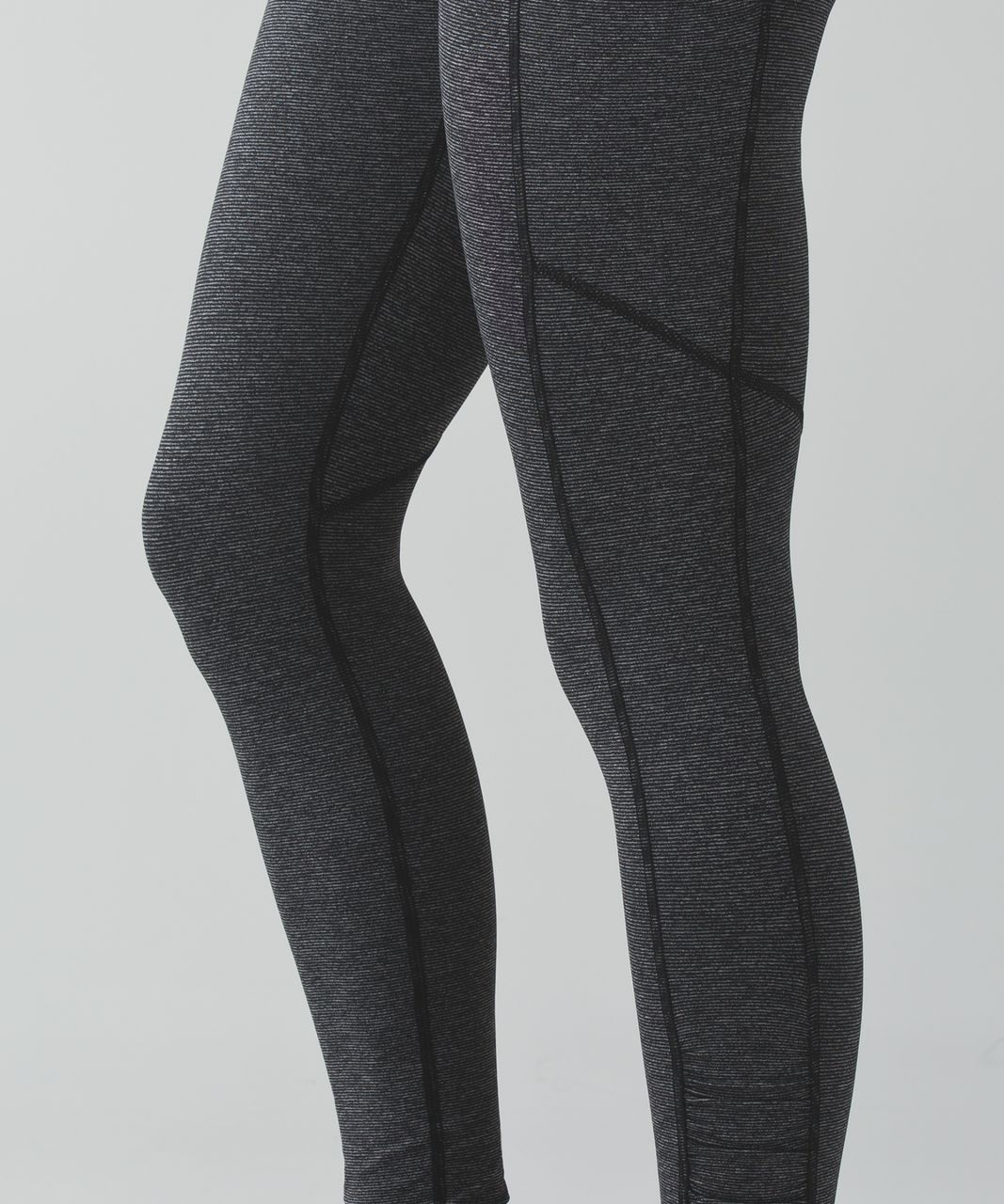Lululemon Speed Tight IV - Wee Stripe Black Heathered Black / Black / Heathered Black