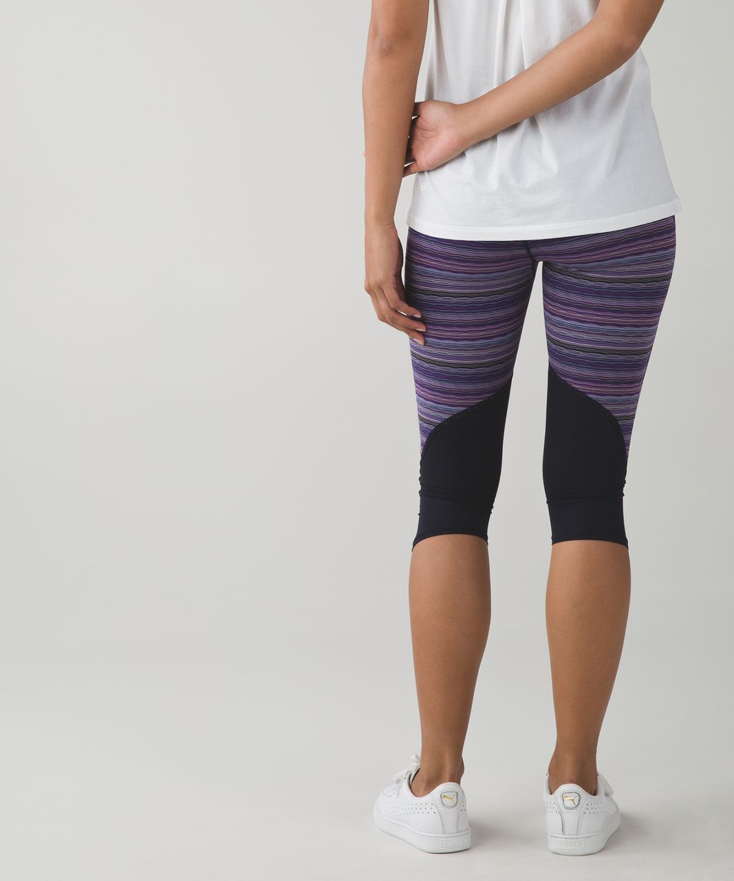 Lululemon Vent It Out Crop - Space Dye Twist Ultra Violet Multi / Naval Blue