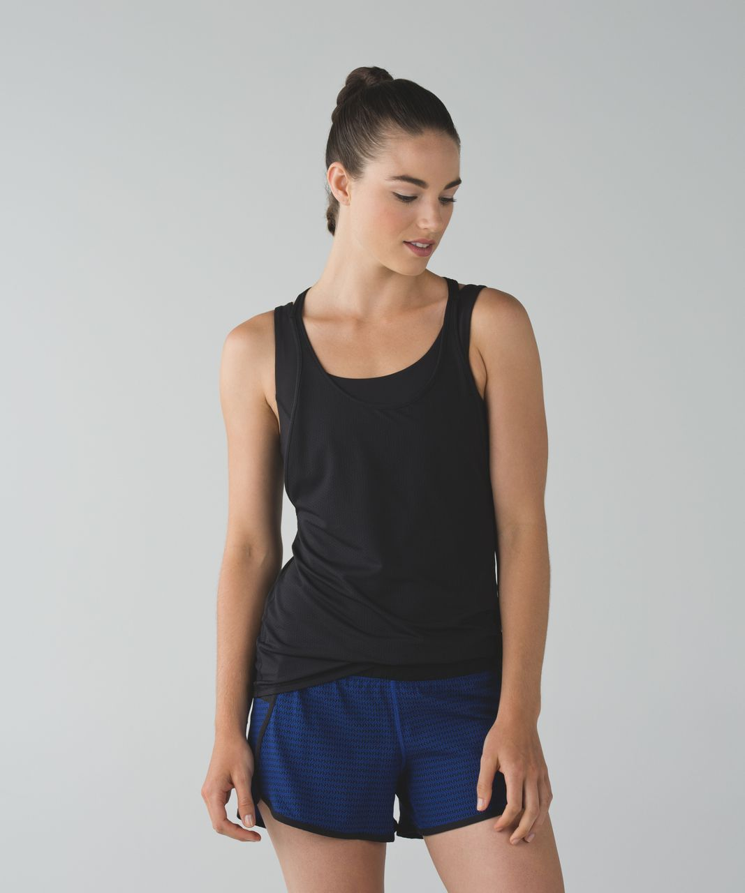 Lululemon Tracker Short III *4-way Stretch - Washi Weave Sapphire Blue Naval Blue / Black