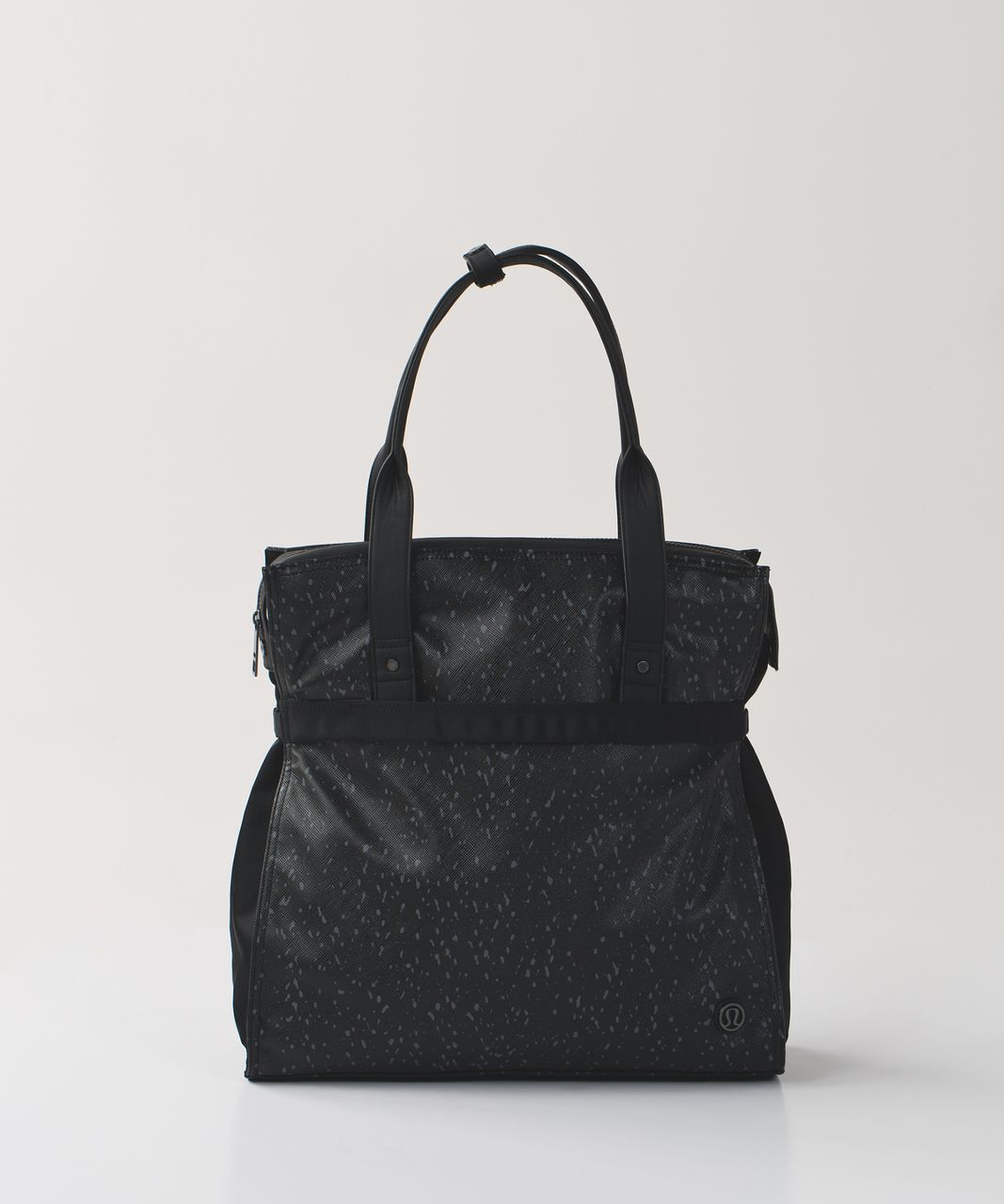 Lululemon Follow Your Bliss Bag - Exploded Butterfly Texture Dark Slate Black / Black
