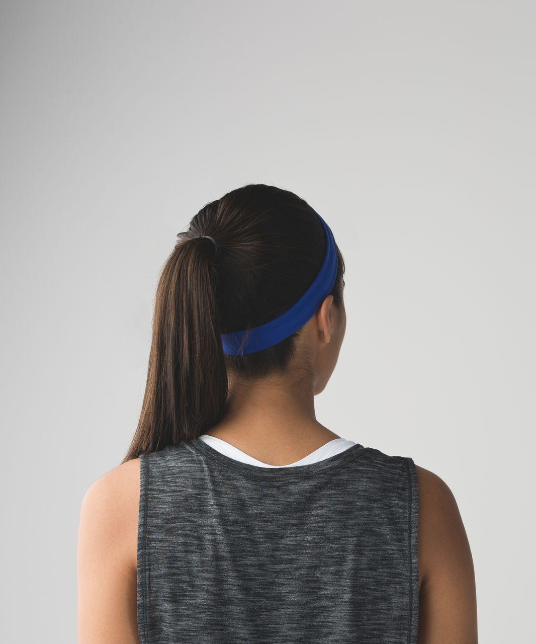 Lululemon Skinny Fly Away Tamer Headband - Sapphire Blue