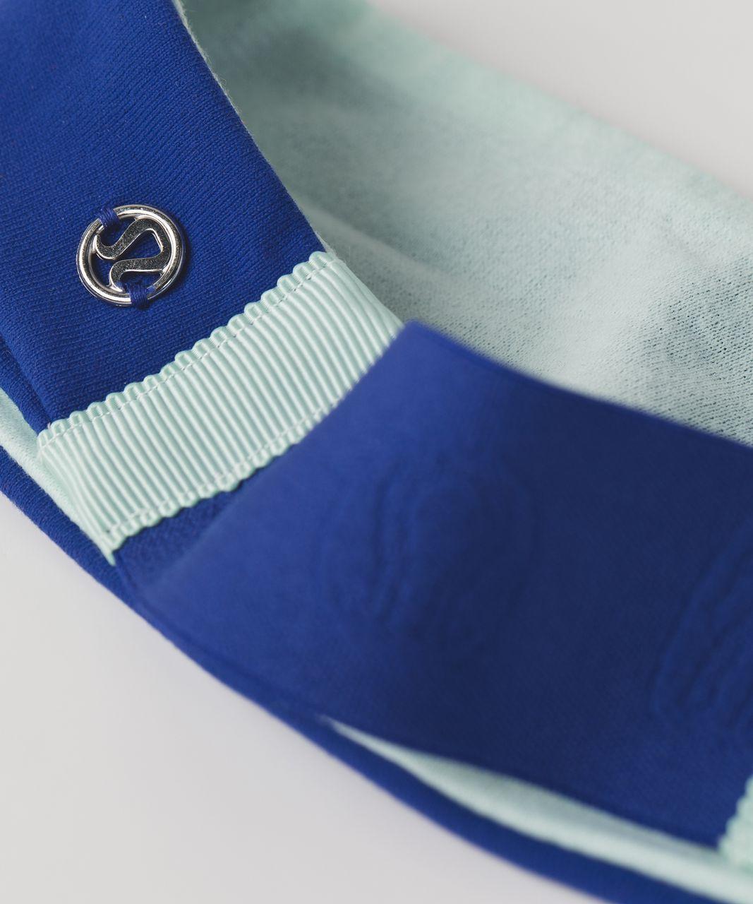 Lululemon Fringe Fighter Headband - Sapphire Blue / Heathered Sea Mist