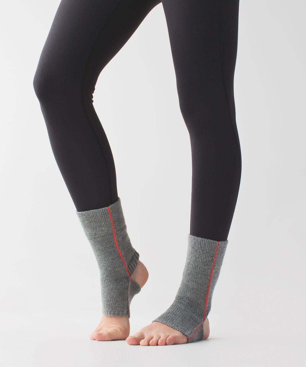 Lululemon Endless Summer Ankle Warmers - Heathered Slate / Alarming