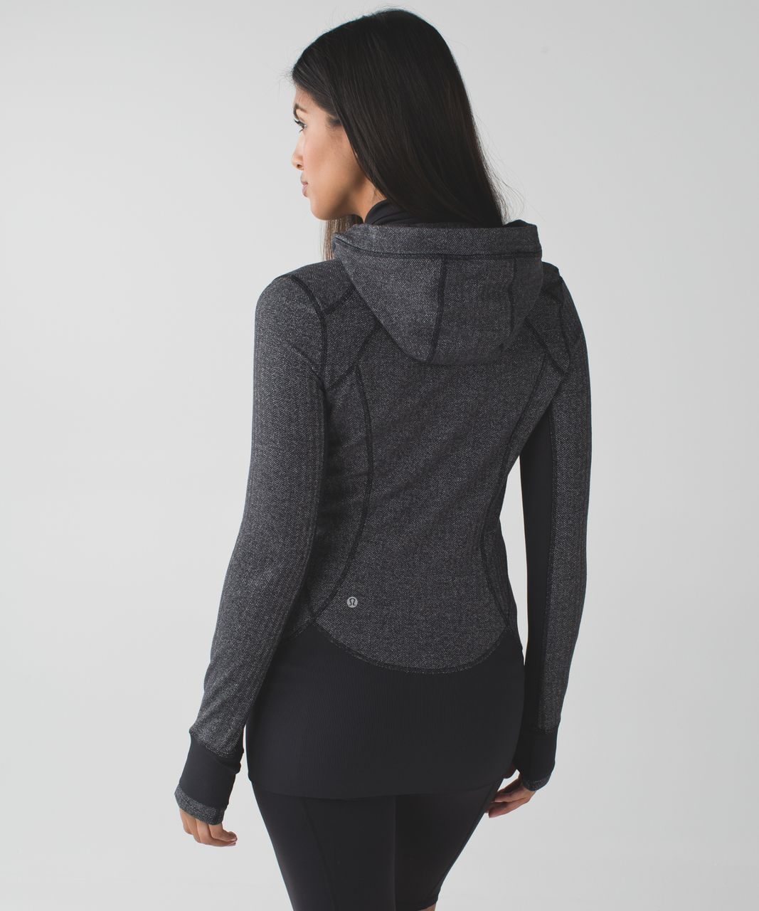 Lululemon Daily Practice Jacket - Heathered Herringbone Heathered Black Black