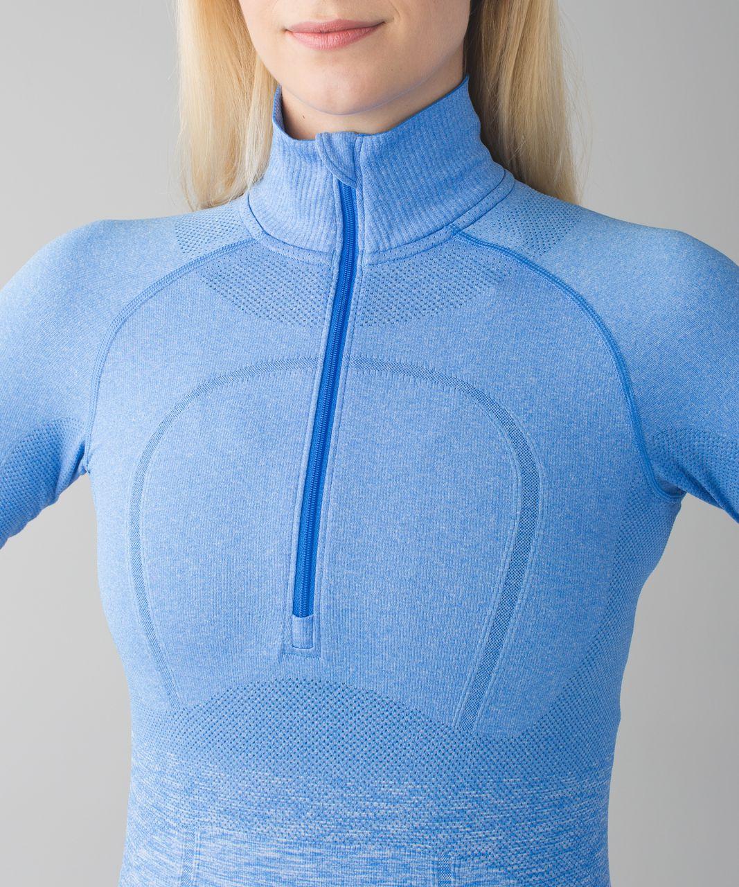 Lululemon Swiftly Tech 1/2 Zip - Heathered Pipe Dream Blue
