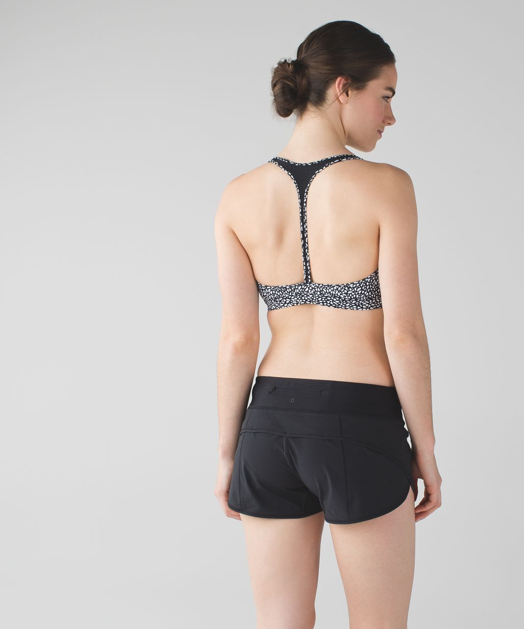 Lululemon Salty Swim Sport Top II - Miss Mosaic Black / Black