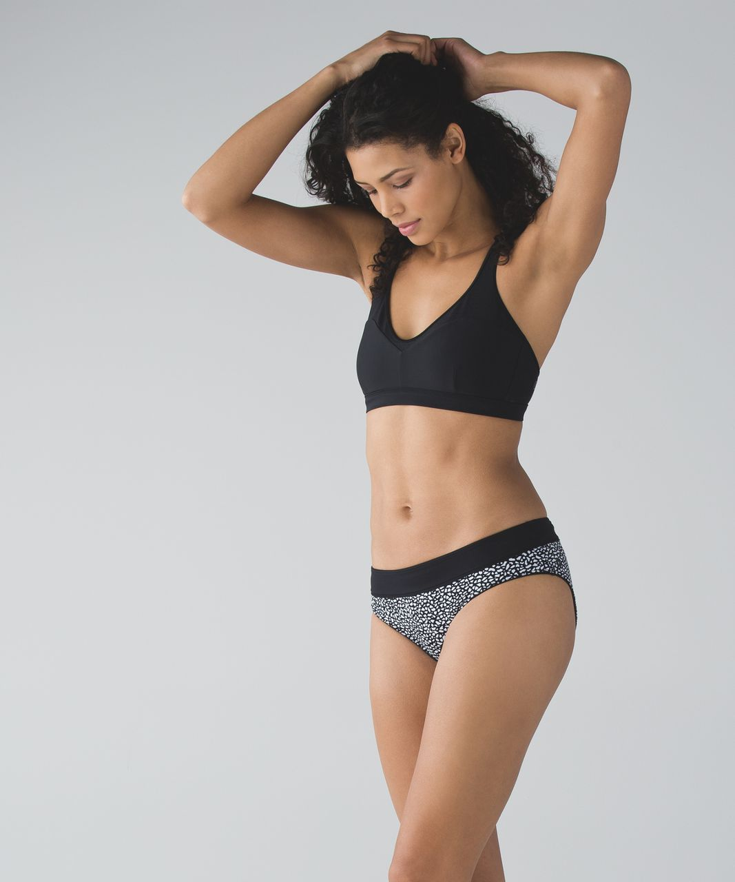 Lululemon Tidal Flow Full Bottom - Black / Miss Mosaic Black