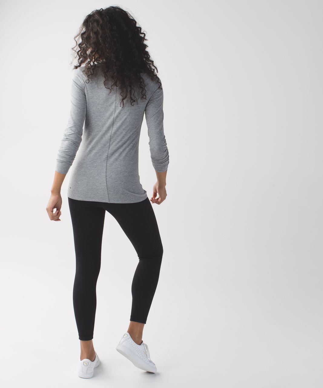 Lululemon Anahatasana Long Sleeve Tee - Heathered Medium Grey
