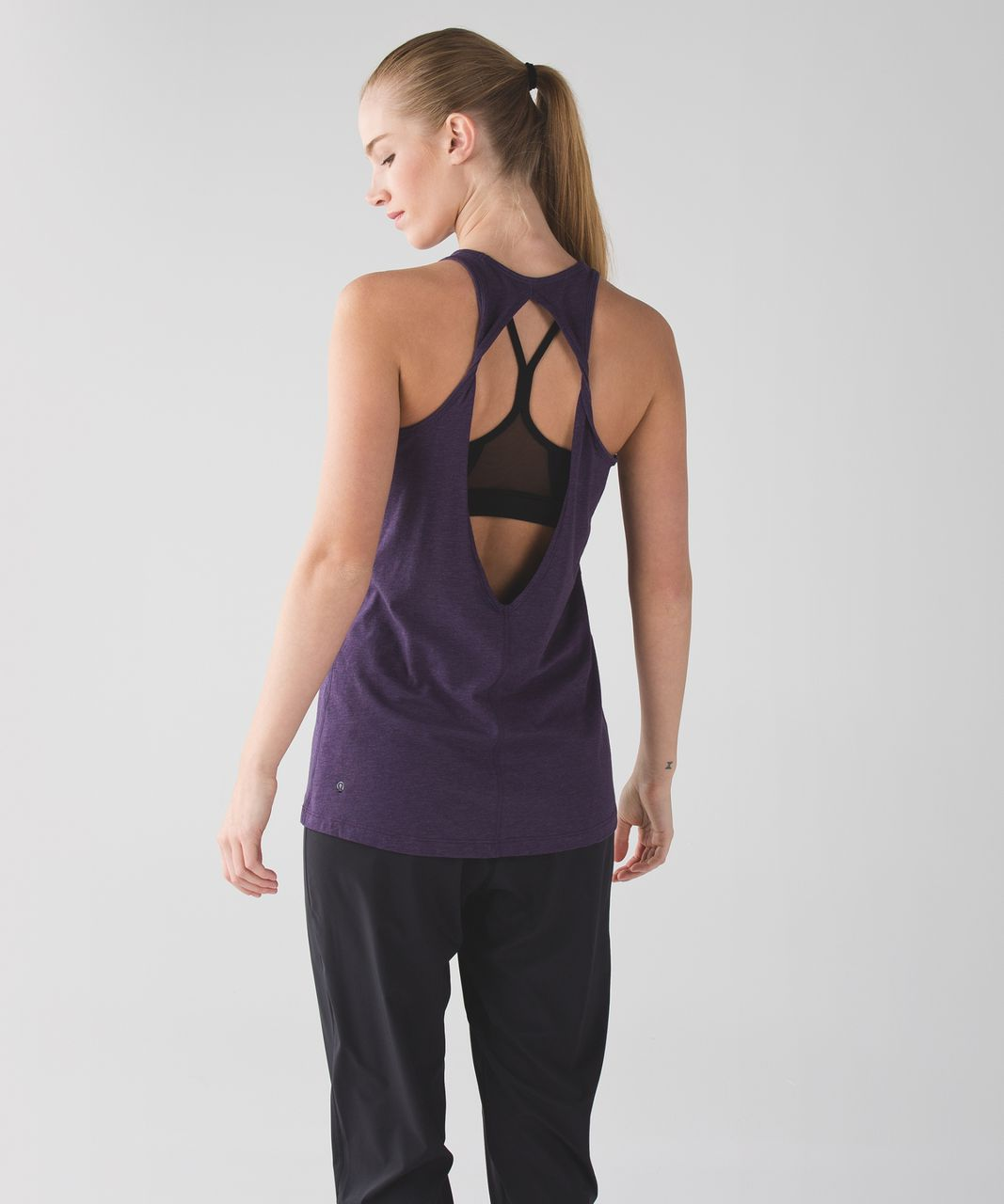 Lululemon Trapeze Twist Tank - Heathered Deep Zinfandel