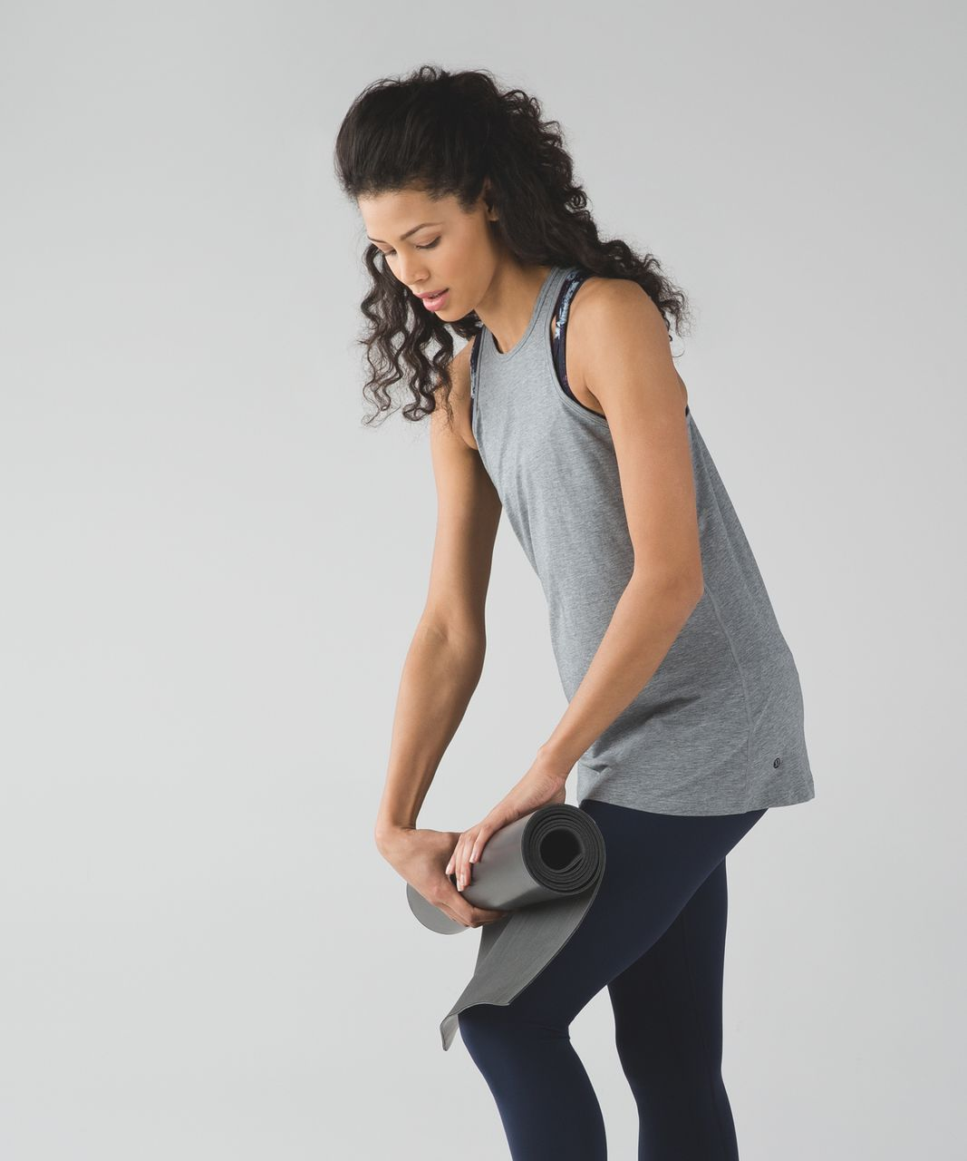 Lululemon Trapeze Twist Tank - Heathered Medium Grey