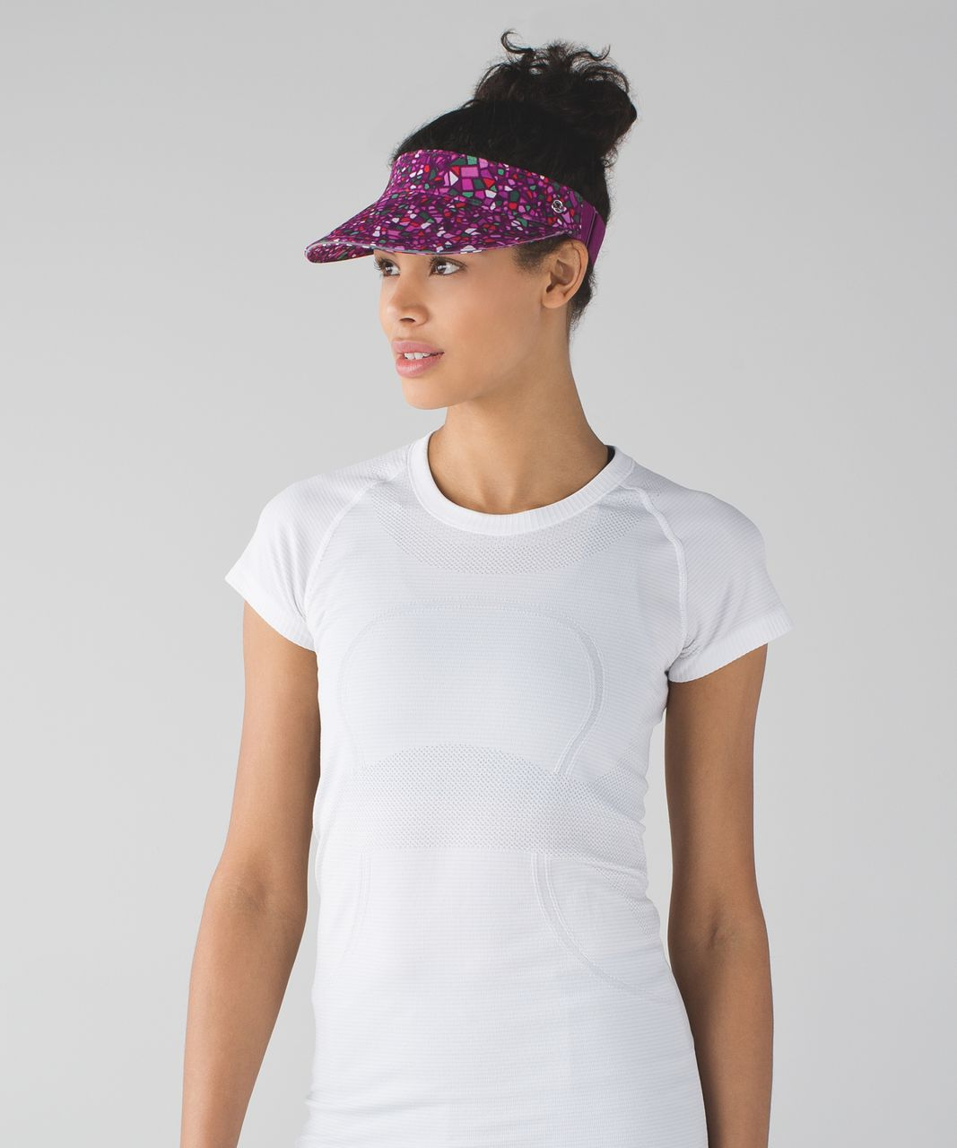 Lululemon Fast Paced Run Visor - Paradise Camo Multi / Regal Plum
