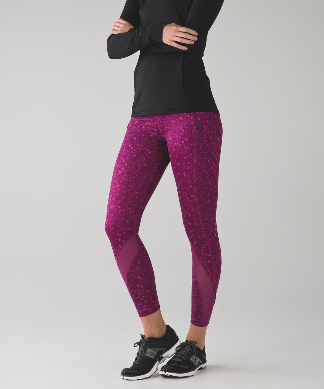 Lululemon Inspire Tight II - Paradise Geo Regal Plum Multi / Regal Plum