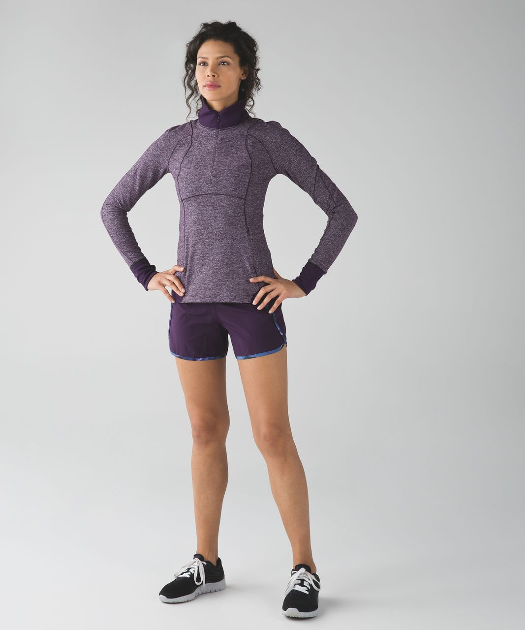 Lululemon Run Times Short *4-way Stretch - Deep Zinfandel / Pretty Prism Multi