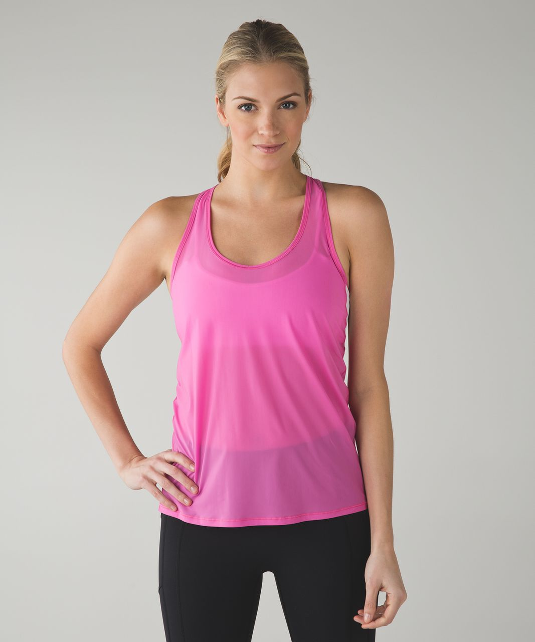 96fa6ed7 Lululemon Tranquil Tank. Pink Paradise / White. AddThis Sharing Buttons