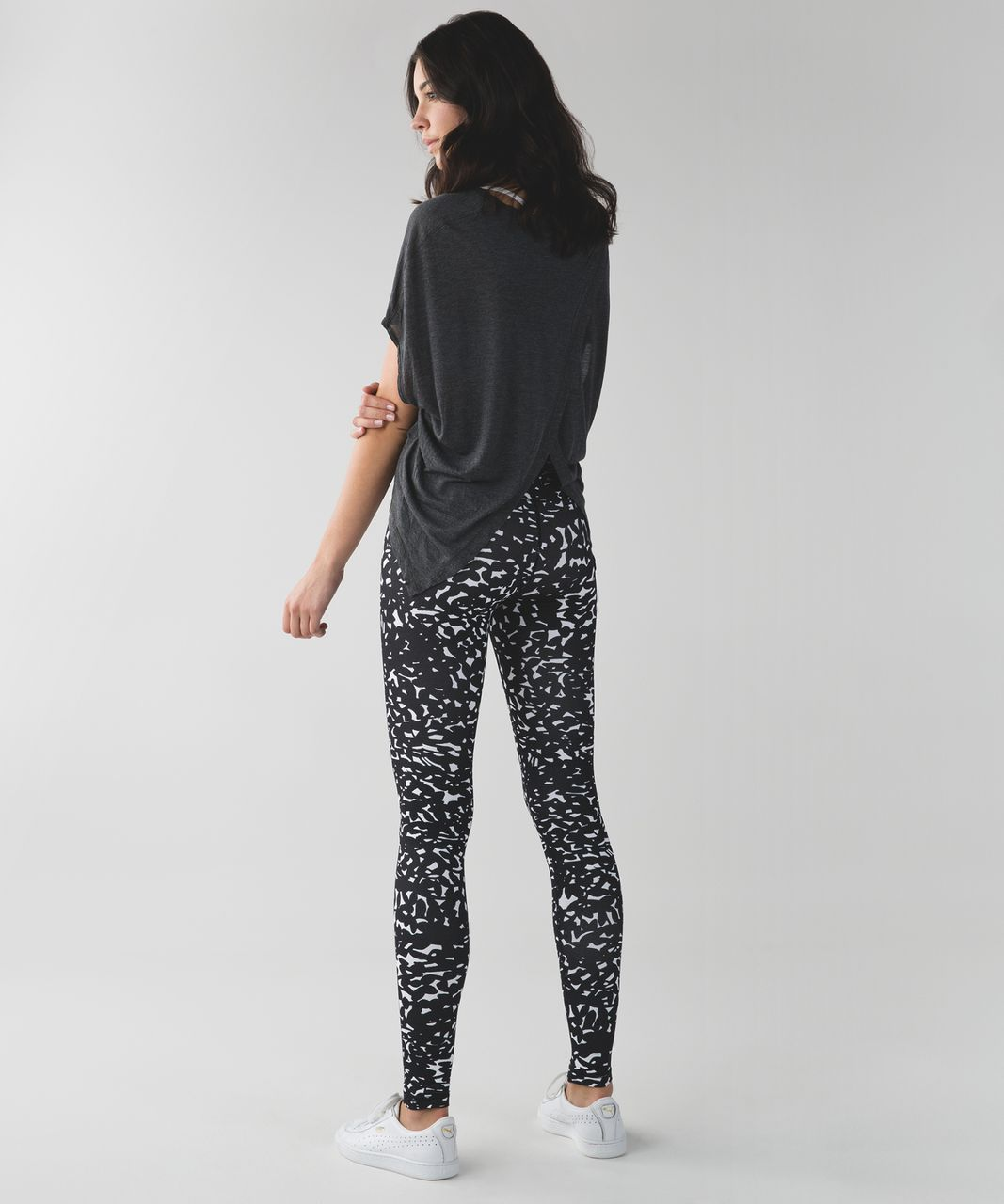 Lululemon Wunder Under Pant (Hi-Rise) - Shadow Wrap White Black