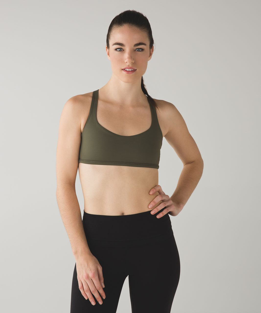 Lululemon Free To Be Bra (Wild) - Fatigue Green / Ray
