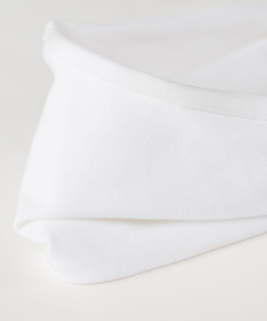 Lululemon Fringe Fighter Headband - White / White / Silver