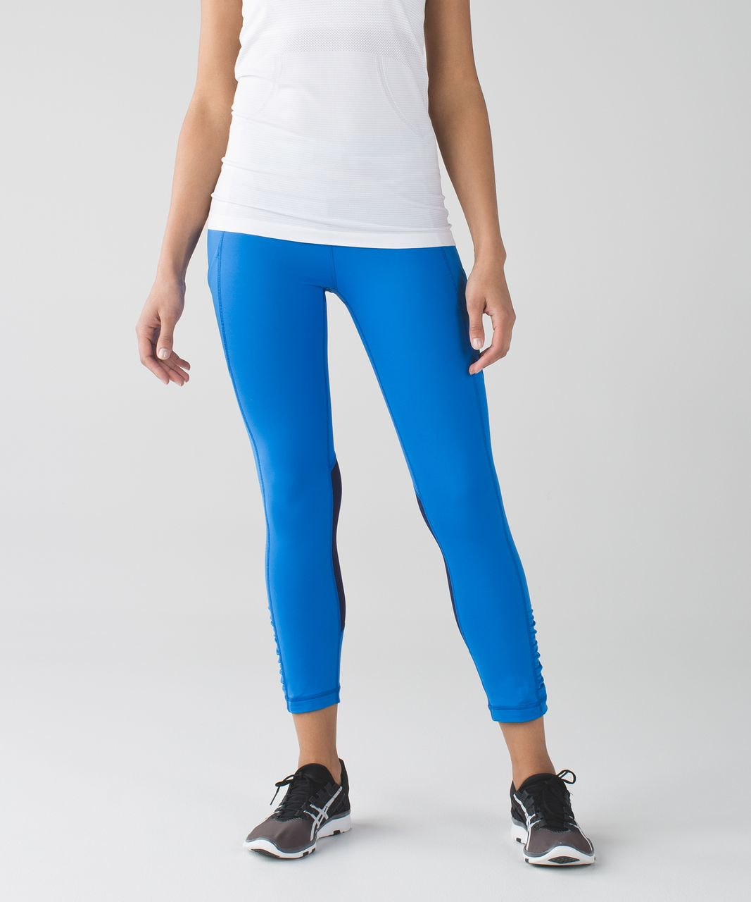 Lululemon Speed Crop - Hero Blue / Seven Wonders Multi