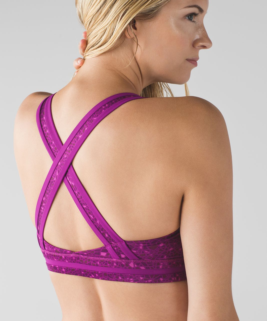 Lululemon Rack Pack Bra - Paradise Geo Regal Plum Multi / Regal Plum