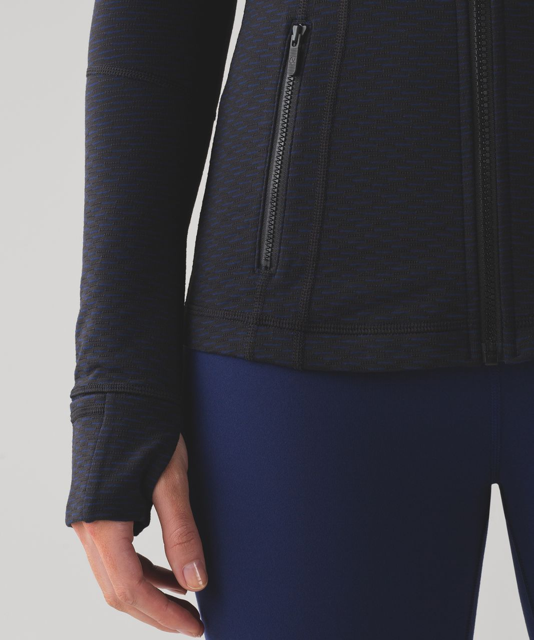 Lululemon Define Jacket - Score Jacquard Black Hero Blue